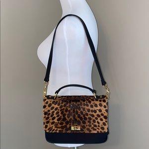 J. Crew Edie Bag in Leopard Print Calf Hair